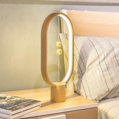Black Heng balance lamp - Ellipse magnetic mid-air switch USB powered LED lamp