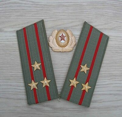 Soviet Russian Shoulder boards and Hat Cap badge Colonel arr. 1969' s