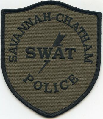 SAVANNAH CHATHAM COUNTY GEORGIA GA Special Weapons And Tactics SWAT POLICE PATCH