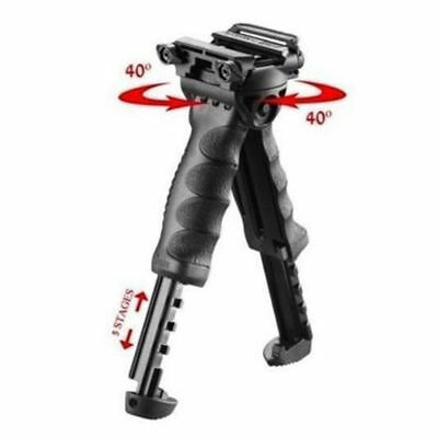 Hunt Foldable Bipod Foregrip Grip Swivel Adjustable Picatinny Airsoft Rail Mount
