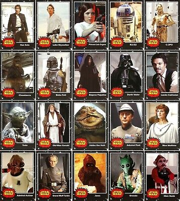 2017 Topps On Demand Star Wars May The 4Th Complete 20 Base Card Set + 1 Auto