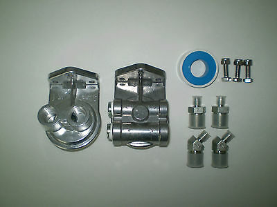 Bypass Oil Filter Head / top or side ports (Not both) Die cast aluminum
