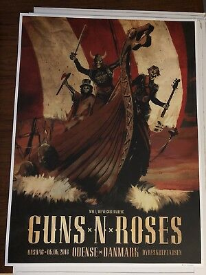 guns n roses lithograph Odense 47/200 New Mint.  Last One