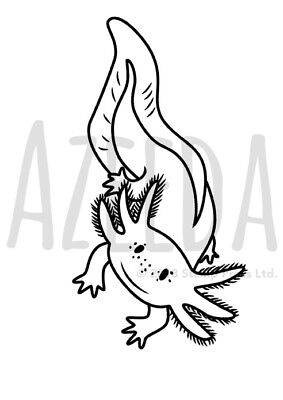 A7 'Axolotl' Unmounted Rubber Stamp (SP00000430)