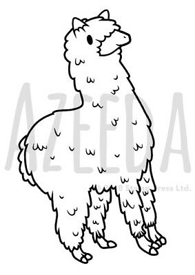 A7 'Alpaca' Unmounted Rubber Stamp (SP00000431)