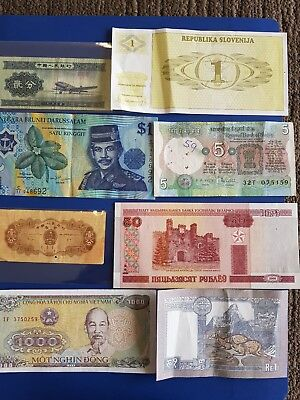 Nice old 8 Bank Note Currency Money  No Reserve lot bundle mix world collector