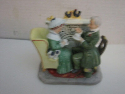 Gorham Norman Rockwell Four Seasons Winter Gaily Sharing Vintage Times Figurine