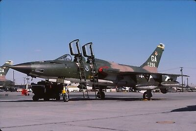 "original slide  F-105G  63-8296 ""GA""  561 TFS / 35 TFW  Oct 77"