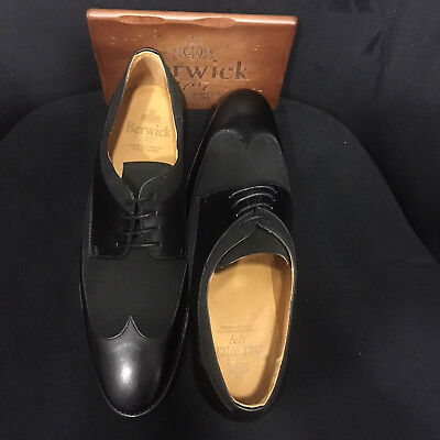 Berwick 1707 Scarpa in pelle Blúcher Goodyear Welted Welted Oxford Buderperster