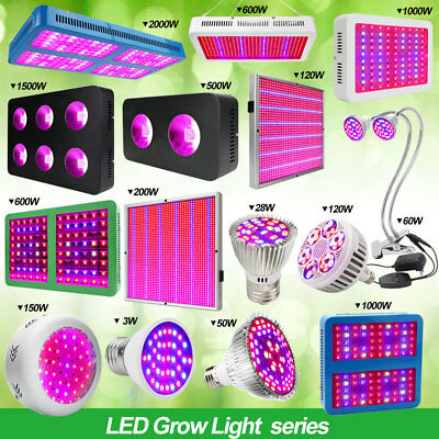 COB Reflecto 100W-2000W Led Grow Light Full Spectrum Lampe Indoor Veg+Flower