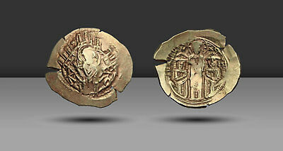 Andronicus II Palaeologus, with Michael IX. AD 1282-1328. Electrum Hyperpyron