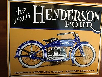 the 1916 Henderson Four - Blechschild