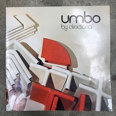 Vintage Umbo Directional Storage Shelving System Seating Catalog 1970