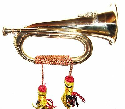 Medium Copper & Brass Bugle Horn Us Civil War, Army Scout X-Mas Gift For Sister