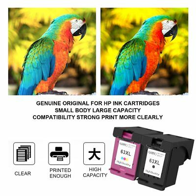 2Ink for HP 63XL B+C Deskjet 2130 2131 3630 3632 ENVY 4520 Officejet 3830 4650 F