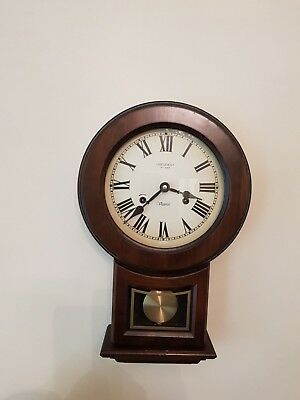 VINTAGE Victoria PRESIDENT 31 DAY WALL CLOCK WITH KEY & PENDULUM CHIME Classic