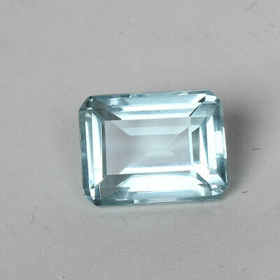 20.00 Ct. Natural Aquamarine Greenish Blue Color Octagon Cut Loose Certified Gem