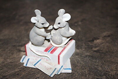 Charming Tails By Dean Griff Two Mice Figurine Not Numbered