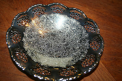 Bmf Silverplate Pedestal Fruit Bowl Candy Dish Made W. Germany Berndorf Metal