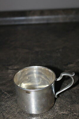 Vintage S. Kirk & Son Sterling Silver Baby Cup with engraved baby name