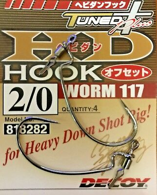 Decoy Worm 117HD Heavy Down Shot Size 1//0 8275