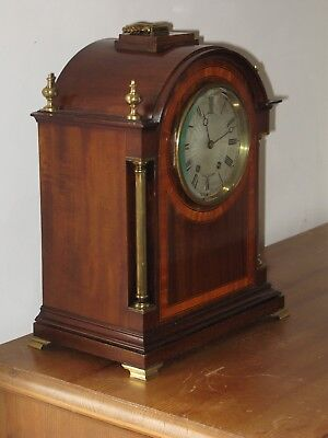 ANTIQUE ENGLISH MAHOGANY 8 DAY Bracket clock.