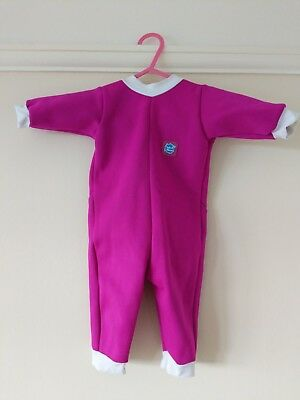 Splash about warm in one 3-6 month baby wetsuit pink