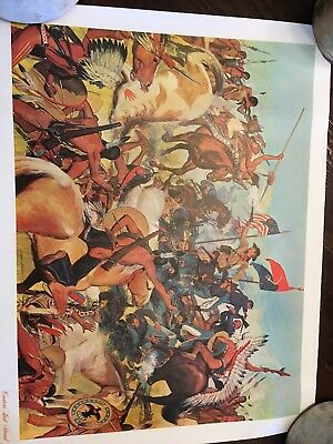 The American Oil Company Custers Last Stand Original Poster
