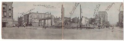 1909 Panorama View of Devastating Fire in Downtown Business District DECATUR, IL