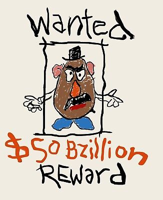 Toy Story Mr. Potato Head Andy's Room Wanted Poster > Woody's Roundup > Rickles