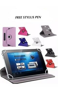 "Universal 360 Rotatable Leather Stand Case Cover For 9,10"" Tab Android Tablet PC"