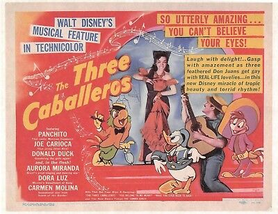 1944 Walt Disney's Three Caballeros > Donald Duck > Aurora Miranda > Mini Poster