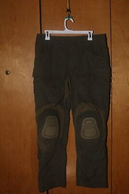 Crye Precision Ranger Green RG G3 Combat Pants size 32S with pads
