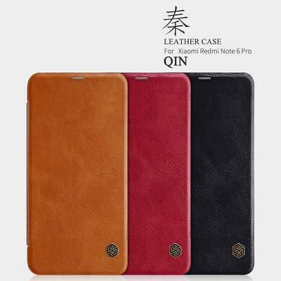For Xiaomi Redme Note 6 Pro Nillkin Flip Leather Wallet Card Business Case Cover