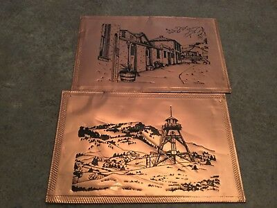Rare Copper Postcards Helena Montana Firetowner Lemmon, SD GREGORIAN GREETINGS