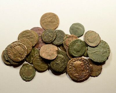 Lot Of 28 Imperial Roman Bronze Coins For Identifying - Low Quality - 02
