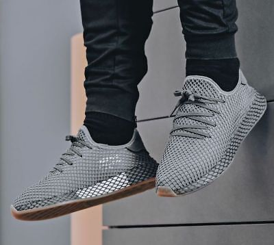 38466e4f44f6d4 NEW ADIDAS ORIGINALS Deerupt Runner Sneaker Mens gray all sz ...