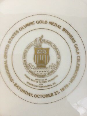 Vtg Lenox Gold Medal Plate October 27th 1979 Olympic Winners Collectable (V)