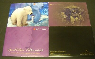CANADA SPECIAL MINT SET LOT of 4  RCM  2000 2002 2003 2005 Canadian Foreign Coin