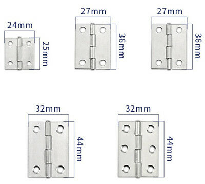 Pair Of Quality Hinges Small-Large Door Gate Cabinet Cupboard - Stainless Steel