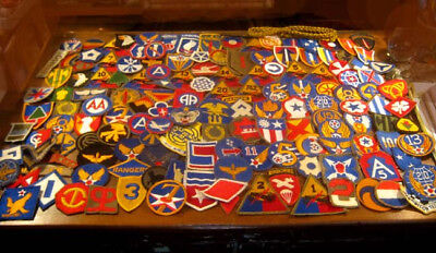 Estate lot Military patches, Airborne, Army WW2, wide variety + 157 patches + NR