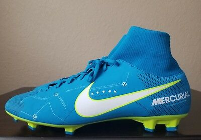 a887c4985c8 New Nike Mercurial Victory Vi 6 Df Njr Fg Soccer Cleats Neymar Blue Men s  11.5