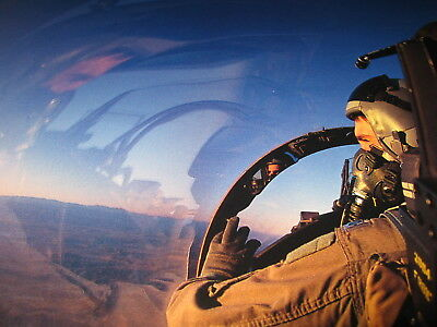 """Air Force Pilot """"Reflections in Flight"""" Beautiful picture  USAF photo"""