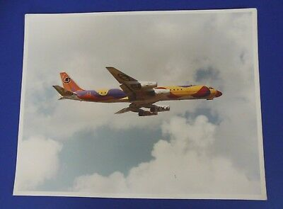 "BRANIFF INT'L AIRWAYS 727-200 CALDER  ""COLORS"" ~ INFLIGHT PHOTO PRINT/11""x14"""