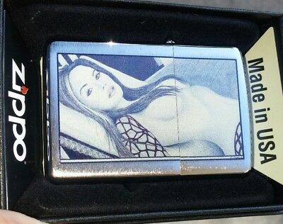 Beautiful sexy girl  art on Zippo lighter custom art D Shawley mint in box