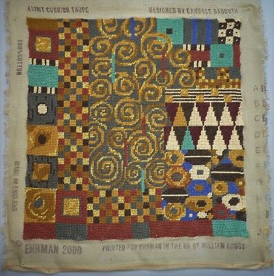 Ehrman Klimt Taupe Candace Bahouth Completed Tapestry Needlepoint Panel