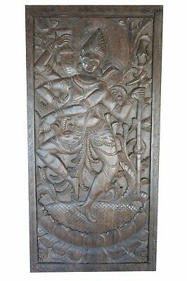 Vintage Hand Carved Shiva Divine Dance Barn Door Panel CLEARANCE SALE