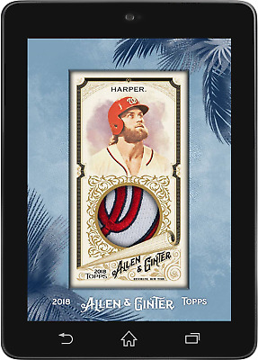 Topps BUNT Bryce Harper MINI RELIC ALLEN GINTER 2018 [DIGITAL CARD] 75cc