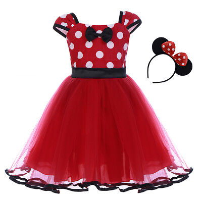 Toddle Baby Girls Minnie Mickey Mouse Tutu Dress Cosplay Fancy Costume Outfits