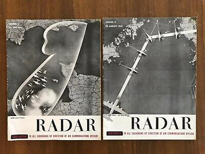 Lot of 2 RADAR Magazine Confidential US Army Air Force Vintage WWII Vintage 1944